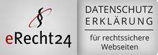eRecht24 Datenschutzerklärung für rechtssichere Webseiten